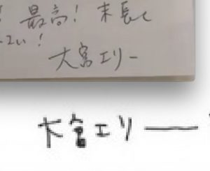 大宮エリー手紙の内容 筆跡